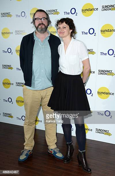 Martin Clark and Cara Connolly attend the Shorts Programme photocall during the Sundance London Film and Music Festival 2014 held at the Cineworld 02...