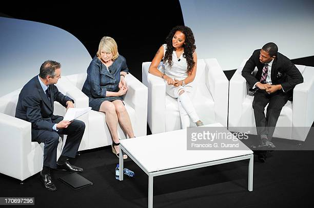Martin Clarke Martha Stewart Melanie Brown and Nick Cannon attend the 'Mail Online Seminar' during the 60th Cannes Lions International Festival of...