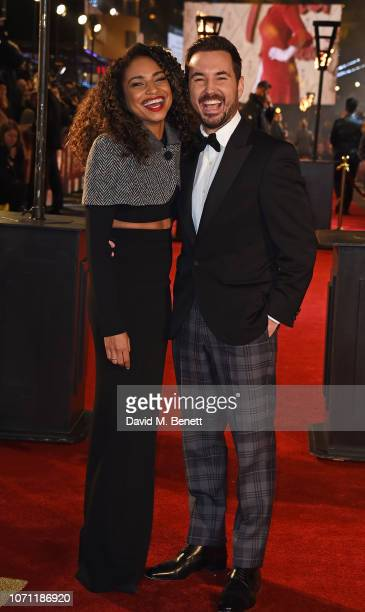 Martin Compston and Tianna Chanel Flynn attend the European Premiere of Mary Queen Of Scots at Cineworld Leicester Square on December 10 2018 in...