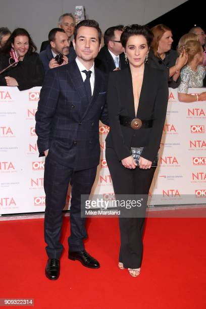 Martin Compston and Vicky McClure attend the National Television Awards 2018 at The O2 Arena on January 23 2018 in London England