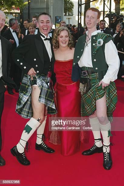 Martin Compston, Anne-Marie Fulton, William Ruane and director Ken Loach.