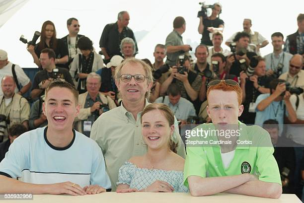 Martin Compston, director Ken Loach, Anne-Marie Fulton and William Ruane.