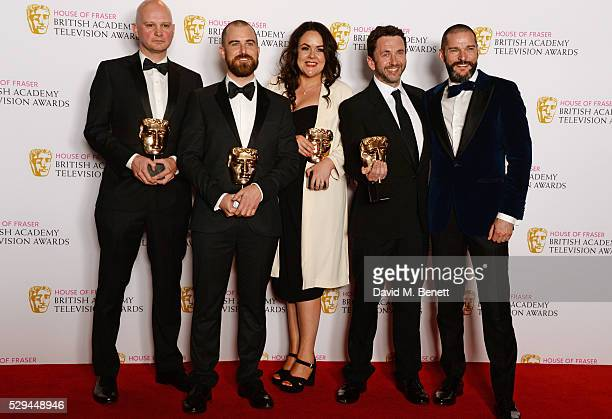 Martin Conway Adam Chapman Nicola Lloyd Rob Clifford and Fred Sirieix winners of the Best Reality and Constructed Factual award for 'First Dates'...