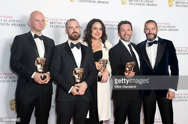 Martin Conway Adam Chapman Nicola Lloyd Rob Clifford and Fred Siriex winners of the Best Reality and Constructed Factual award for First Dates pose...