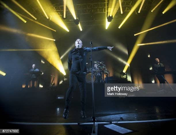 Martin CooperAndy McCluskeyStuart KershawPaul Humphreys of OMD performs at O2 Guildhall on November 10 2017 in Southampton England