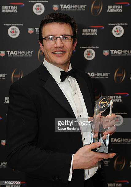 Martin Corry is inducted into the Hall of Fame during the inaugural Premiership Rugby Hall of Fame Ball at the Hurlingham Club on February 7, 2013 in...