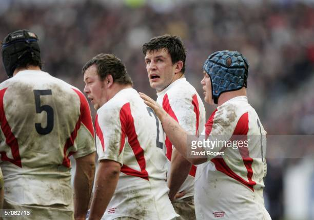 Martin Corry of England looks up during the RBS Six Nations match between France and England at the Stade de France on March 12, 2006 in Paris,...
