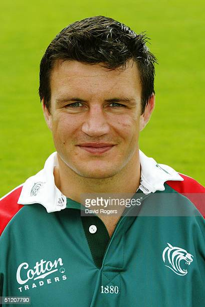 Martin Corry pictured during the Leicester Tigers Squad Photocall on July 21 2004 at Welford Road Leicester England