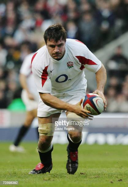 Martin Corry the England captain runs with the ball during the Investec Challenge match between England and South Africa at Twickenham on November...