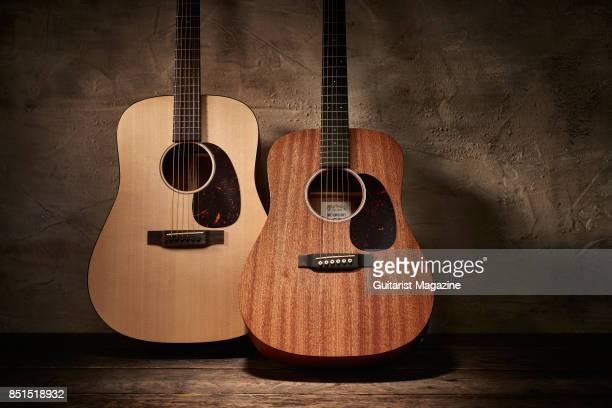 A Martin D15 Special acoustic guitar and Martin Dreadnought Junior D Jr 2E Sapele electroacoustic guitar taken on September 12 2016