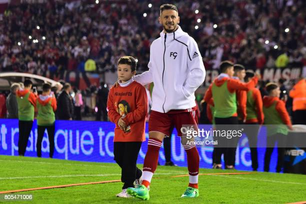 Martin Demichelis gets n the field prior the Fernando Cavenaghi's farewell match at Monumental Stadium on July 01 2017 in Buenos Aires Argentina
