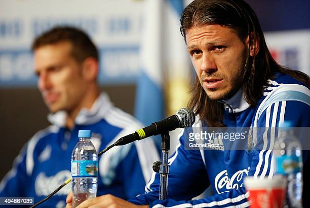 Martin Demichellis speaks during a press conference at Ezeiza Training Camp on May 31 2014 in Ezeiza Argentina