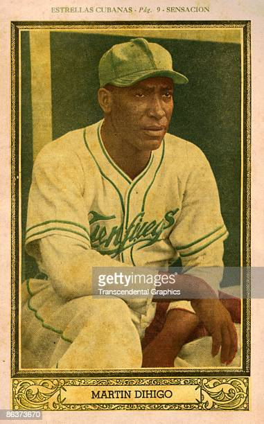 Martin Dihigo, pitcher and manager for the Cienfuegos Elephants, is featured in this Sensacion tobacco premium issued in 1946.