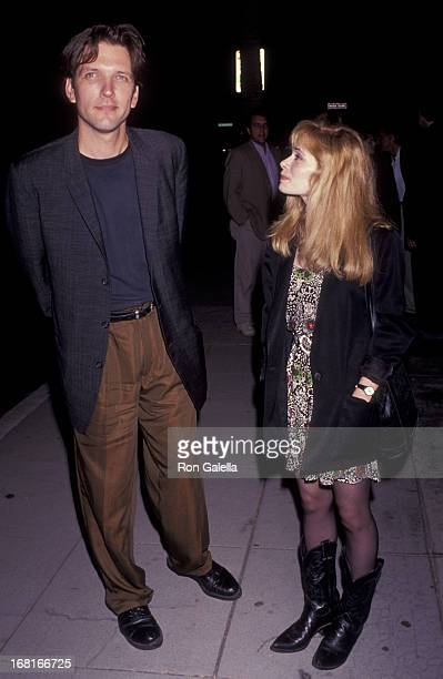 Martin Donovan and Adrienne Shelly attend the screening of 'Trust' on August 14 1991 at the Fine Arts Theater in Beverly Hills California