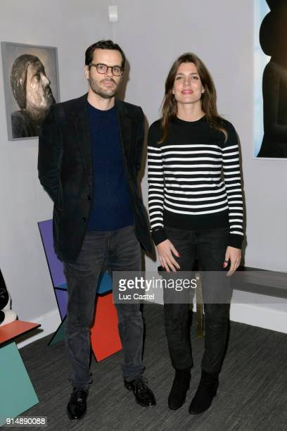 Martin d'Orgeval and Charlotte Casiraghi attend the presentation of the Cahier N°3 of the philosophical meetings of Monaco on January 25 2018 in...