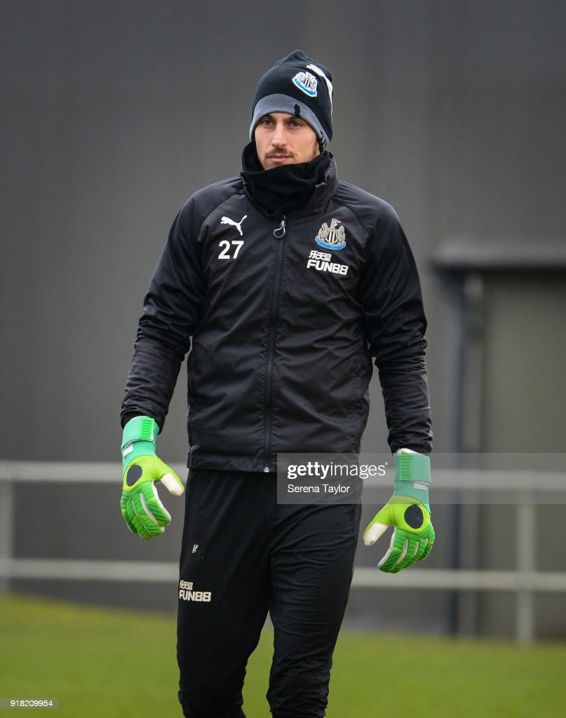 Martin Dubravka during the Newcastle United Training session at The Newcastle United Training Centre on February 14, 2018, in Newcastle upon Tyne, England.