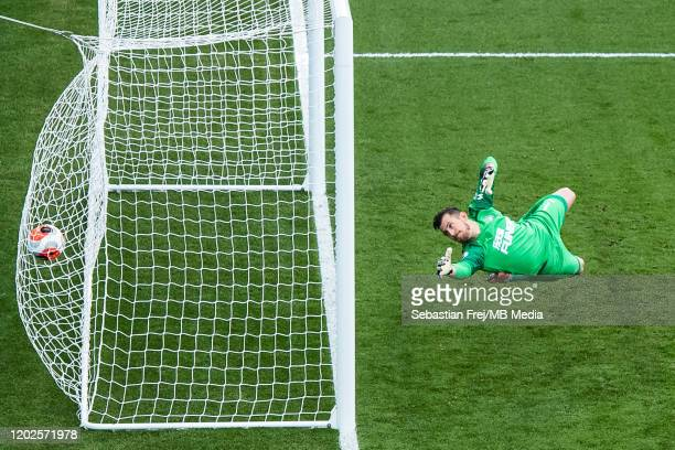 Martin Dubravka of Newcastle United concede goal direct from free kick during the Premier League match between Crystal Palace and Newcastle United at...