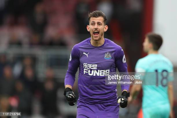 Martin Dubravka of Newcastle United during the Premier League match between AFC Bournemouth and Newcastle United at Vitality Stadium on March 16 2019...