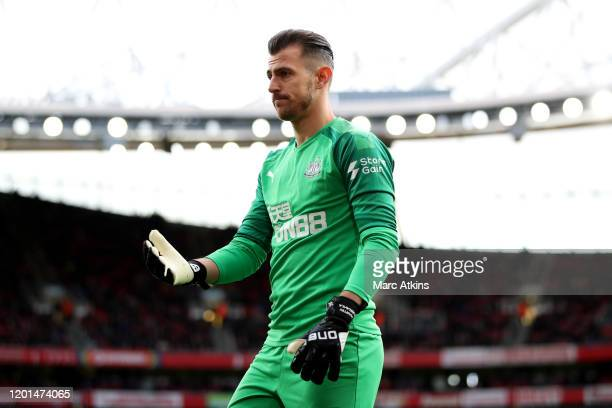 Martin Dubravka of Newcastle United during the Premier League match between Arsenal FC and Newcastle United at Emirates Stadium on February 16 2020...