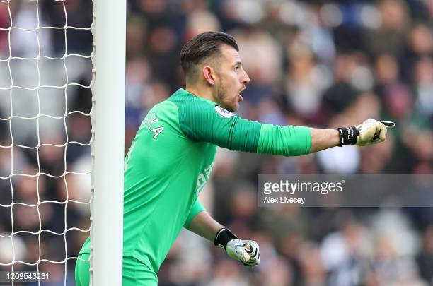 Martin Dubravka of Newcastle United during the Premier League match between Newcastle United and Burnley FC at St James Park on February 29 2020 in...