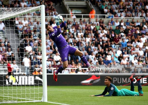 Martin Dubravka of Newcastle United saves a shot from Dele Alli of Tottenham Hotspur during the Premier League match between Newcastle United and...