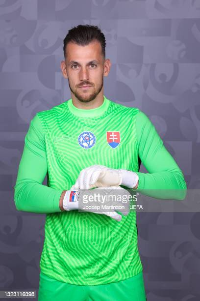 Martin Dubravka of Slovakia poses during the official UEFA Euro 2020 media access day on June 10, 2021 in Saint Petersburg, Russia.