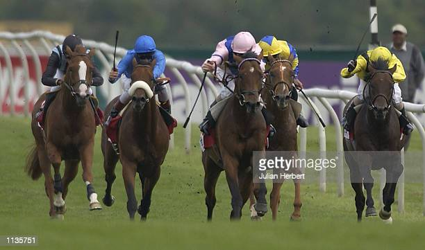 Martin Dwyer and Highdown lead the field home to land The Cantor SportSpread Free Steventon Stakes run at Newbury Racecourse in Newbury on July 20...