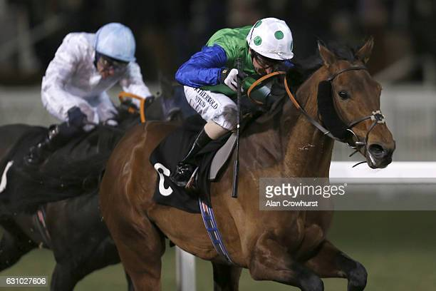 Martin Dwyer riding Jimenez win The toteplacepot Racing's Favourite Bet Handicap Stakes at Chelmsford racecourse on January 5, 2017 in Chelmsford,...
