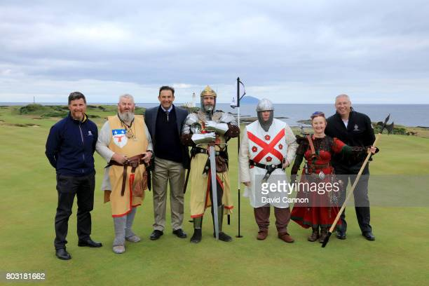 Martin Ebert of Mackenzie and Ebert the golf course architect poses for a photograph with Allan Patterson the head green keeper at Trump Turnberry...