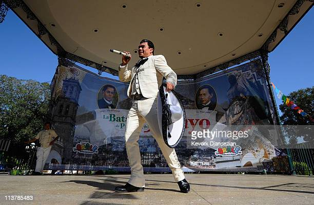 Martin El Zacateca performs during Cinco De Mayo festivities on May 5 2011 at El Pueblo de Los Angeles Historic Site on Olvera Street in downtown Los...