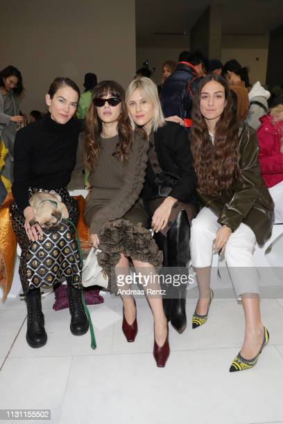 J Martin Eleonora Carisi Linda Tol and Erika Boldrin attend the Max Mara show during Milan Fashion Week Fall/Winter 2019/20 on February 21 2019 in...