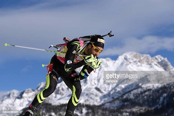 Martin Fourcade FRA Frankreich France Verfolgungsrennen Männer men Biathlon Weltcup Hochfilzen Saison 2013 / 2014