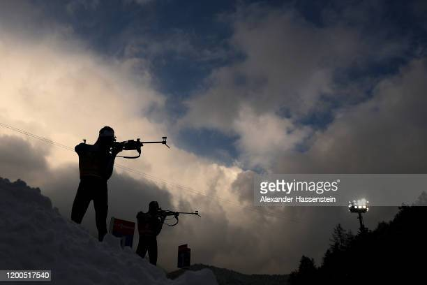 Martin Fourcade of France competes during the Men 12.5 km Pursuit Competition at the BMW IBU World Cup Biathlon Ruhpolding on January 19, 2020 in...