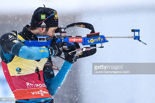 Martin Fourcade of France during the IBU Biathlon World Cup Men's and Women's Pursuit on January 15 2017 in Ruhpolding Germany