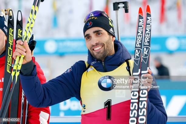 Martin Fourcade of France in action during the IBU Biathlon World Cup Men's and Women's Mass Start on December 17, 2017 in Le Grand Bornand, France.
