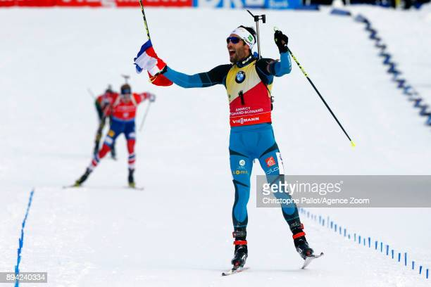 Martin Fourcade of France in action during the IBU Biathlon World Cup Men's and Women's Mass Start on December 17 2017 in Le Grand Bornand France