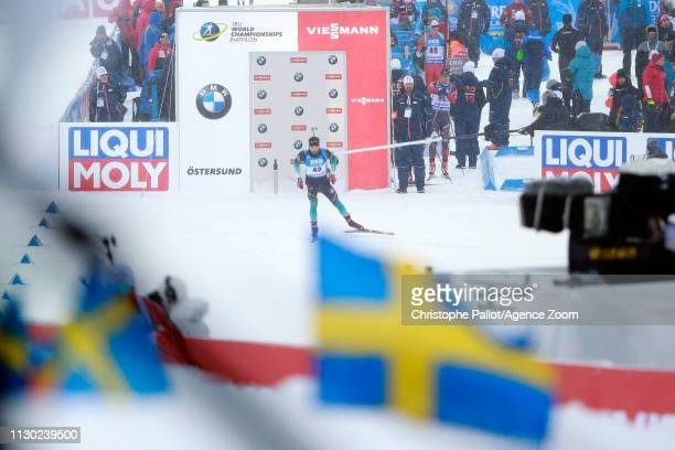 Martin Fourcade of France in action during the IBU Biathlon World Championships Men's 20km on March 13 2019 in Oestersund Sweden