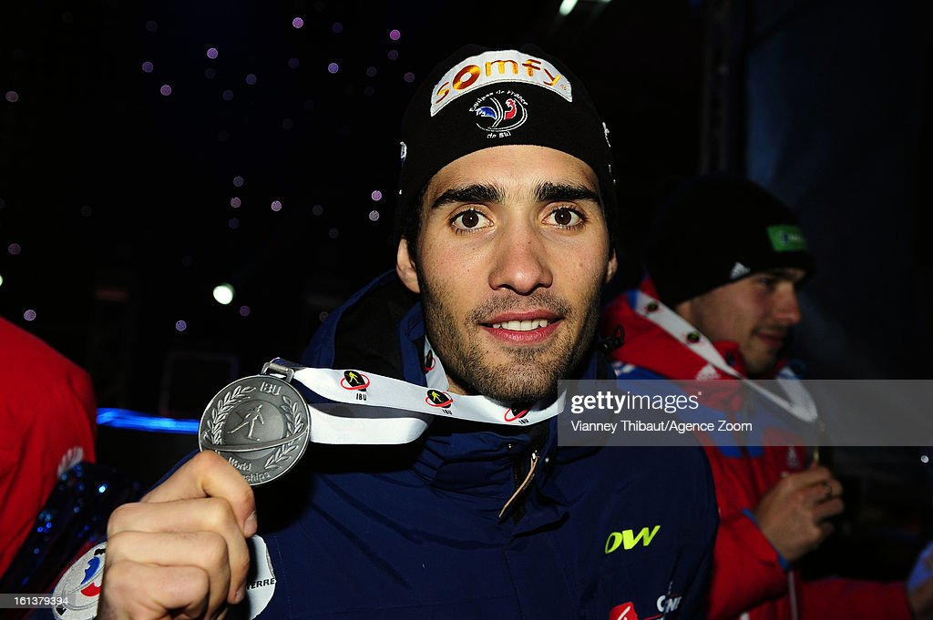 Martin Fourcade of France takes 2nd place during the IBU Biathlon World Championship Men's 12.5km Pursuit on February 10, 2013 in Nove Mesto, Czech Republic.
