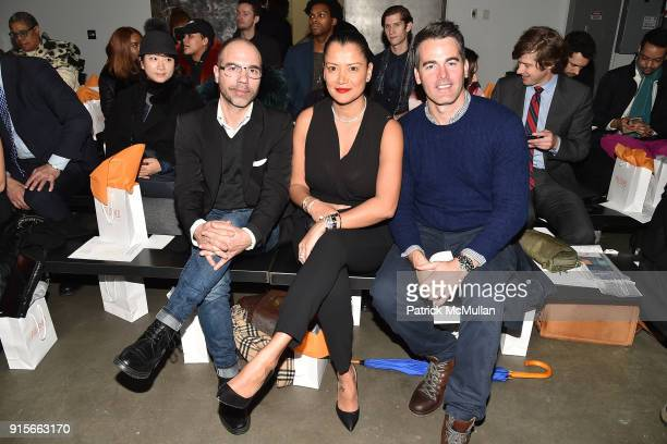 Martin Franzen Keytt Lundqvist and Andrew Freesmeier attend The Blue Jacket Fashion Show Benefiting Prostate Cancer Foundation at Pier 59 on February...