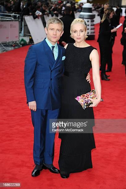 Martin Freeman Amanda Abbington attends the Arqiva British Academy Television Awards 2013 at the Royal Festival Hall on May 12 2013 in London England