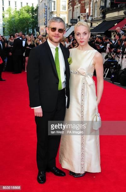 Martin Freeman and Amanda Abbington arriving for the 2014 Arqiva British Academy Television Awards at the Theatre Royal Drury Lane London