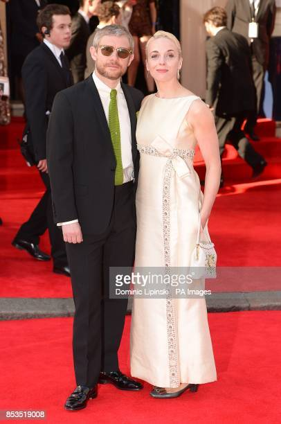 Martin Freeman and Amanda Abbington arriving for the 2014 Arqiva British Academy Television Awards at the Theatre Royal Drury Lane London