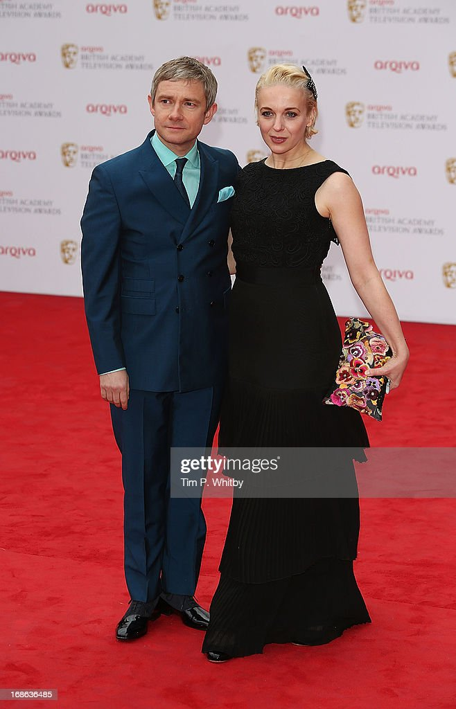 Martin Freeman and Amanda Abbington attend the Arqiva British Academy Television Awards 2013 at the Royal Festival Hall on May 12, 2013 in London, England.