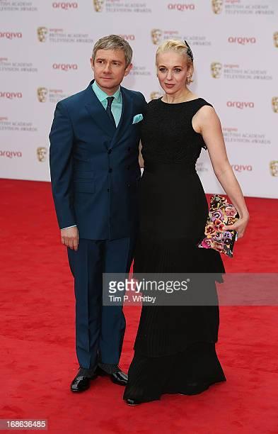 Martin Freeman and Amanda Abbington attend the Arqiva British Academy Television Awards 2013 at the Royal Festival Hall on May 12 2013 in London...