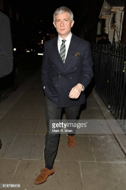 Martin Freeman attending the Dunhill and Dylan Jones PreBAFTA Filmmakers Dinner on February 15 2018 in London England