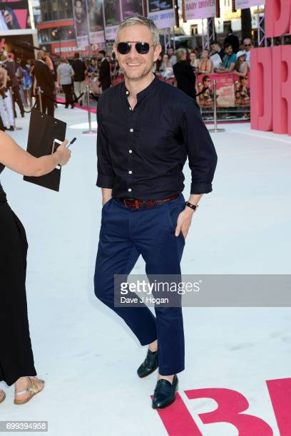 Martin Freeman attends the European Premiere of 'Baby Driver' at Cineworld Leicester Square on June 21 2017 in London England