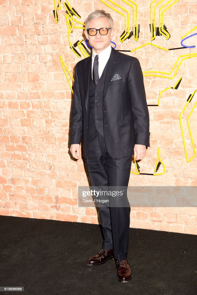 Martin Freeman attends the European Premiere of 'Black Panther' at Eventim Apollo on February 8, 2018 in London, England.
