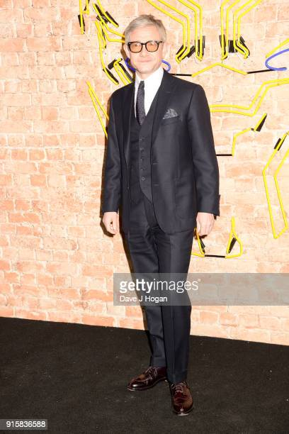 Martin Freeman attends the European Premiere of 'Black Panther' at Eventim Apollo on February 8 2018 in London England