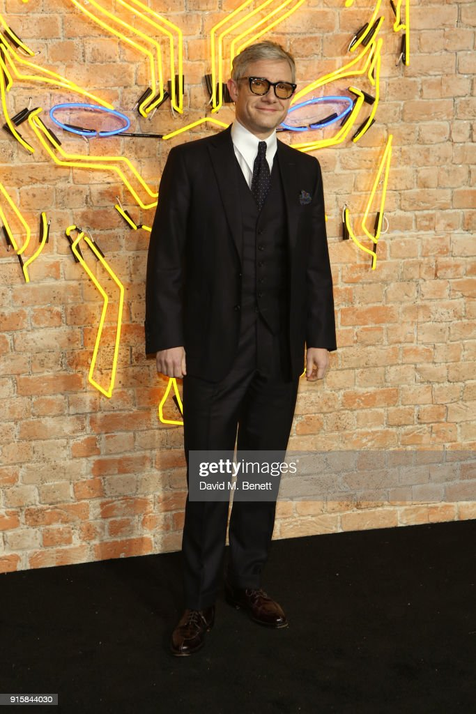 Martin Freeman attends the European Premiere of 'Black Panther' at the Eventim Apollo on February 8, 2018 in London, England.