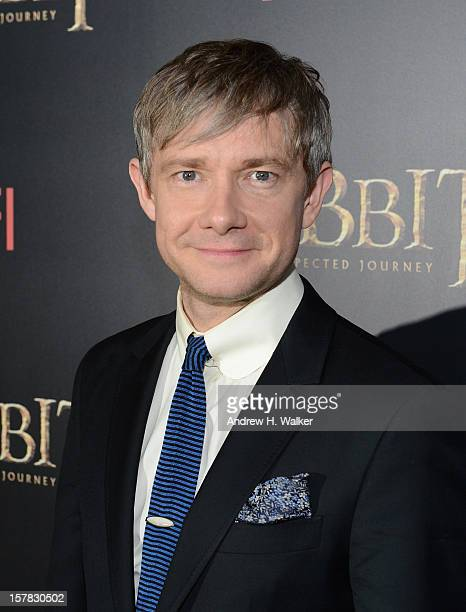 "Martin Freeman attends ""The Hobbit: An Unexpected Journey"" New York Premiere Benefiting AFI - Red Carpet And Introduction at Ziegfeld Theater on..."